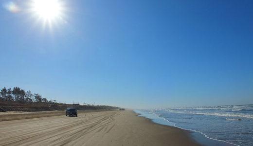 天気のいい日は最高!千里浜なぎさドライブウェイで砂浜を車で快走!